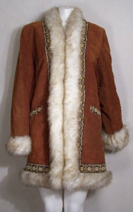 60s Coat with Faux Fur Trim from Some Like it Vintage