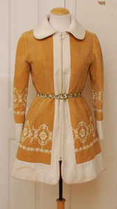 60s Tan Embroidered Coat from What Would Marilyn Wear?