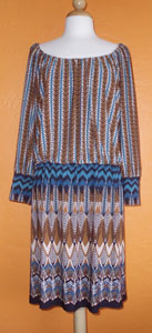 Tribal Drop-Waist Dress from Lionheart Vintage