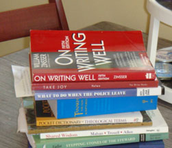 Books I brought in yesterday