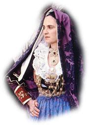 Traditional Sardinian Folk Costume