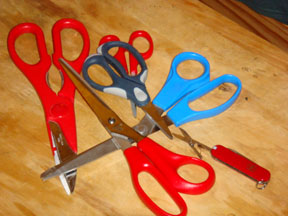 Scissors from all over the house