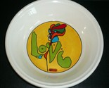"""Peter Max """"Love"""" Bowl"""