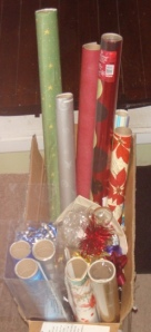 wrapping-paper-and-ribbons-collected-over-the-years