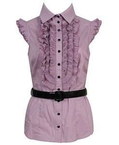 Pair this girly blouse with yellow voile skirt below.